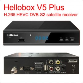 Hellobox V5 Plus Satellite Receiver (Free IPTV, SCAM) H.265 HEVC
