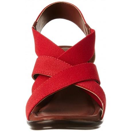 Bata Women's Elastic Wedge Fashion Sandals