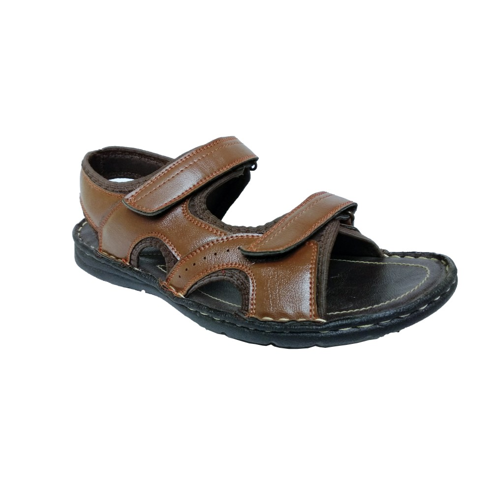 Bata Macho Brown leather sandals for Men