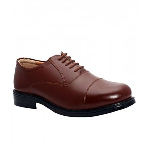 Bata Police Shoes Tan Leather Remo Oxford Formal
