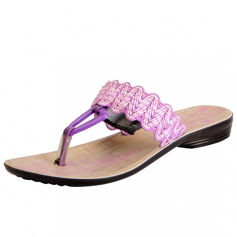2a7d85510 Buy Bata Ladies chappals Purple thong 9065