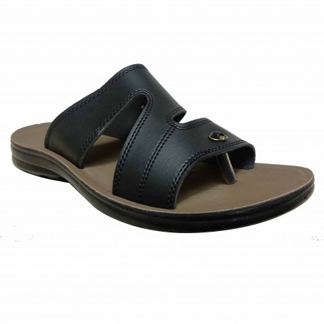 Bata Chappal slipper Black leather for Men