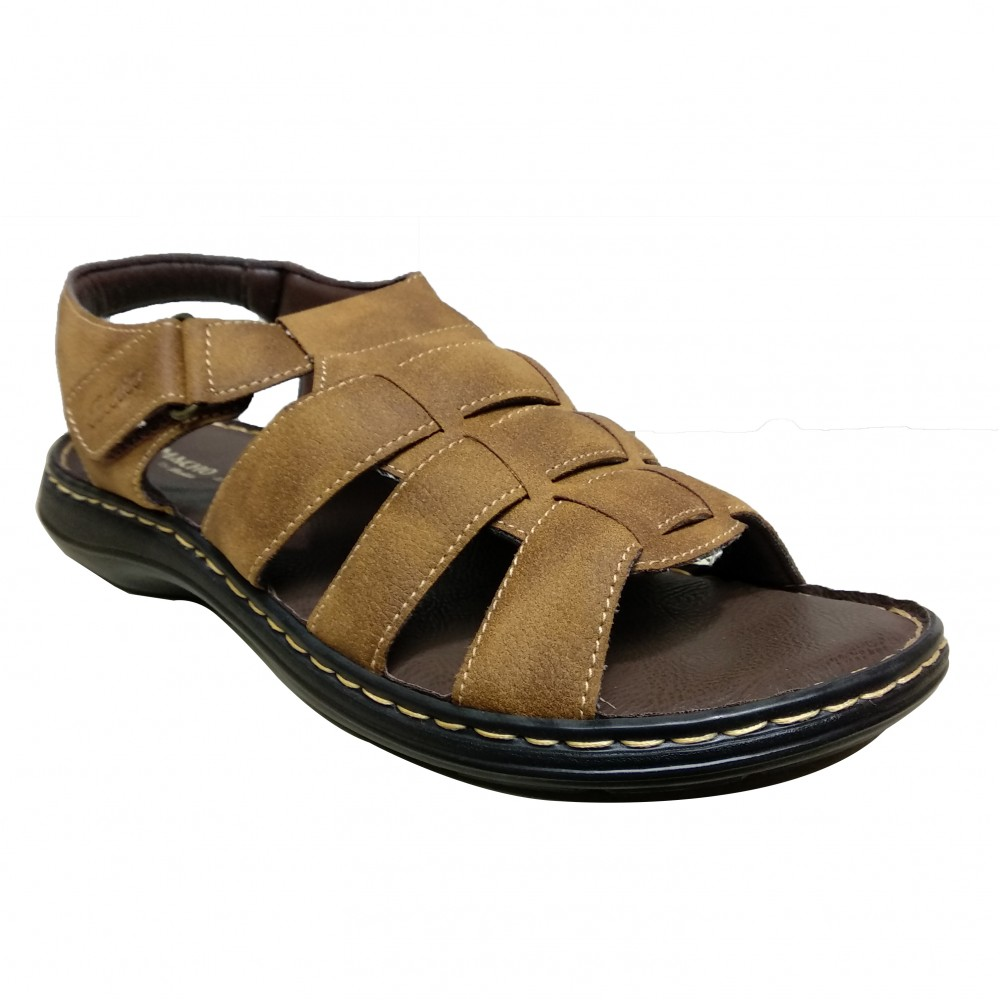 Bata Macho Brown Leather Sandal For Men