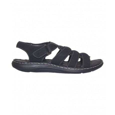 Bata Black leather Sandal for Men