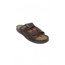 Bata Quadis Brown Leather Chappal for Men