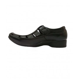 Bata leather  Black Sandals for Men