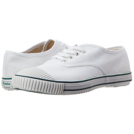 Bata white Tennis canvas shoe