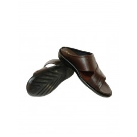 Eagle Brown Leather Chappals for Men