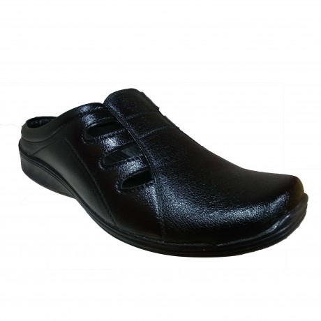 Black leather sandal Ferry for Men