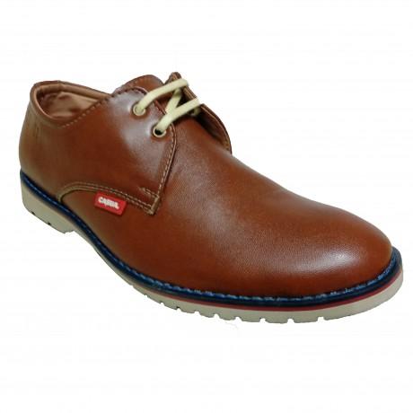 MR Leather Derby Tan Formal Shoe for Men