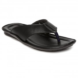Paragon Vertex Black leather Slipper