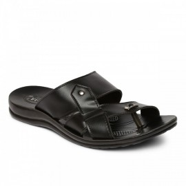PARAGON MEN'S BLACK VERTEX FLIP-FLOPS