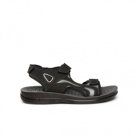 Paragon Vertex Black sandals for Men