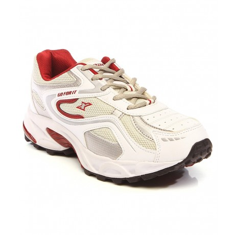 Sparx White Maroon Running Shoe for Men