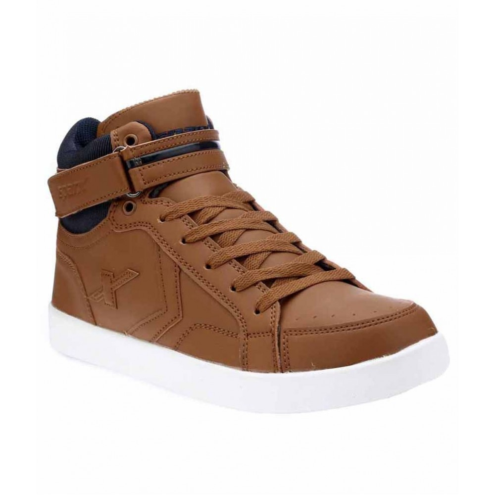 Sparx Tan Leather ankel sneakers