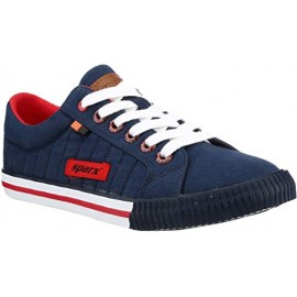 Sparx Men's Blue and Red Causal Sneakers