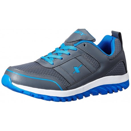 Sparx Grey Blue Men's Sports Running Shoes