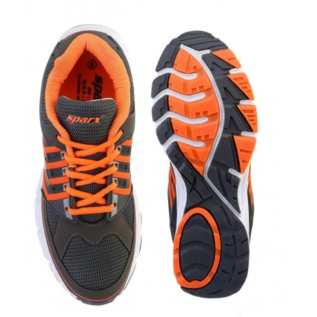 Sparx Stylish Sports Orange Grey