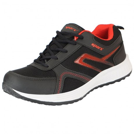 Sparx Black Red Light weight Running Shoe