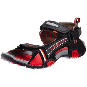 Sparx Black Red sandal for Men