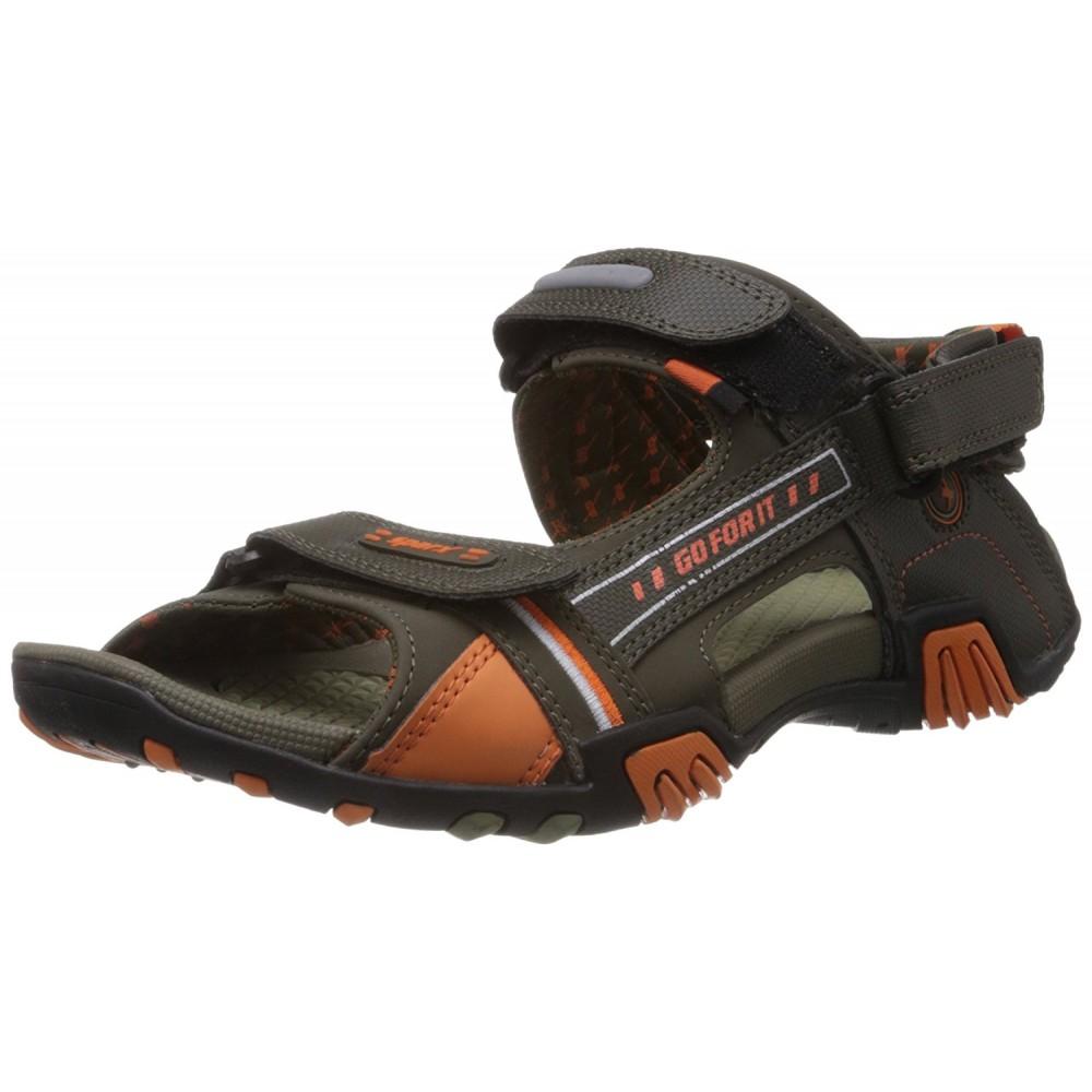Sparx olive Orange Floater sandal  for Men