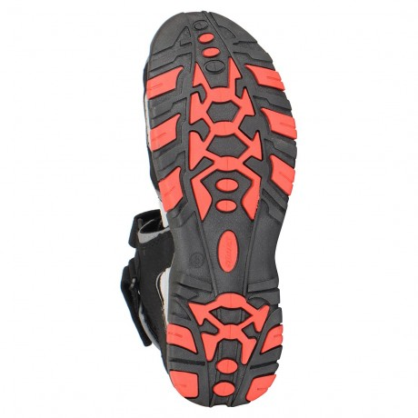 Sparx Black Red floater Sandal for Men