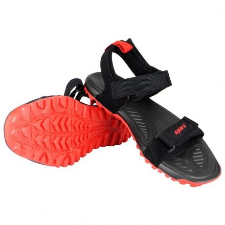 Sparx Black Red Outdoor Sandals For Men