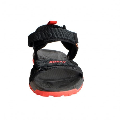 Sparx Black Red Athletic Outdoor Sandals For Men