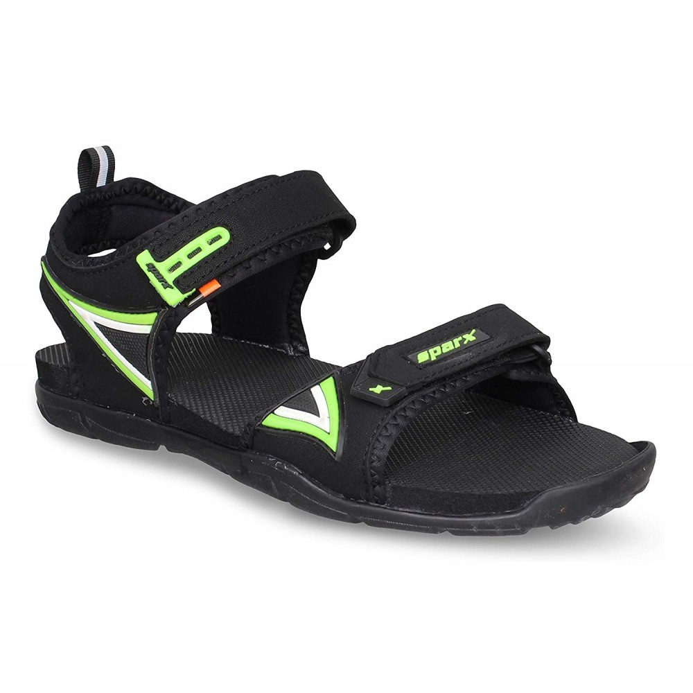 Sparx Black Green Stylish Out door Sandal