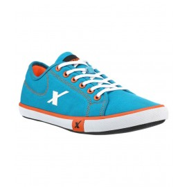 Sparx Sky-Blue and Orange Running Sneakers