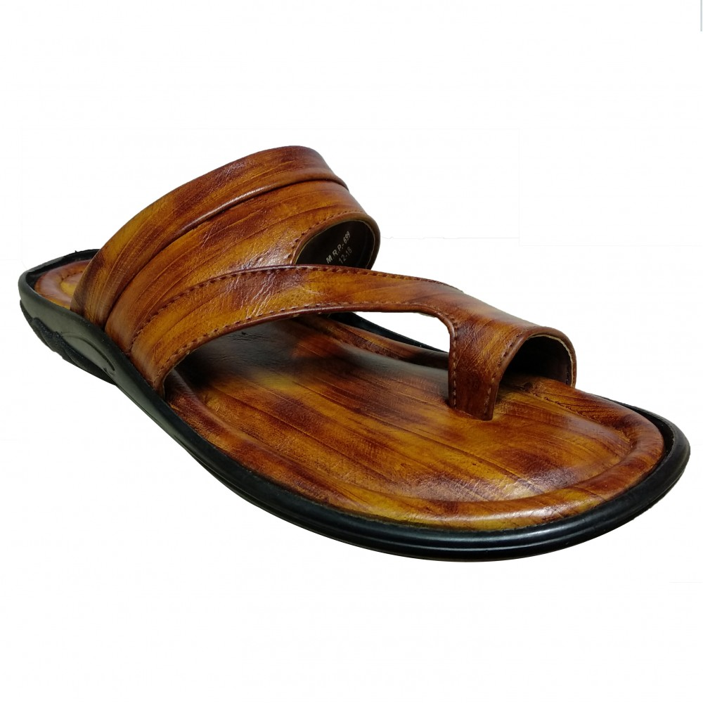 Buy Tan Leather Classic Chappals for men