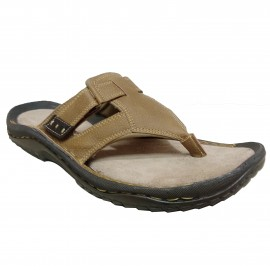 BATA WEINBRENNER CAMEL LEATHER CHAPPAL FOR MEN